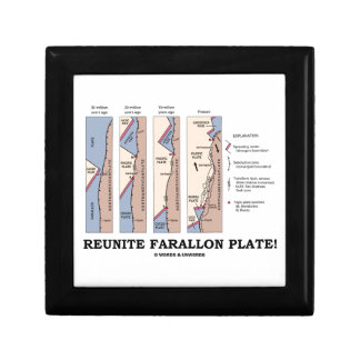 Reunite Farallon Plate! (Geology Plate Tectonics) Keepsake Box
