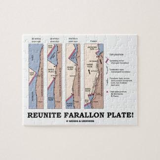 Reunite Farallon Plate! (Geology Plate Tectonics) Puzzle
