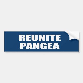 REUNITE PANGEA BUMPER STICKER