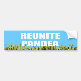 REUNITE PANGEA BUMPER STICKER