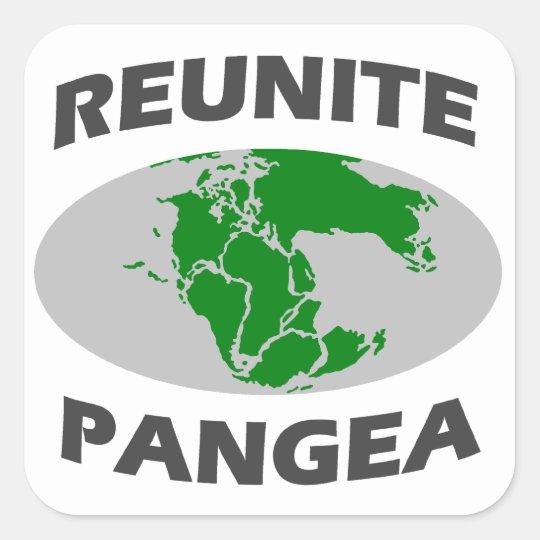 Reunite Pangea Square Sticker