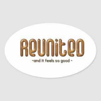 Reunited Custom Family Reunion Oval Sticker