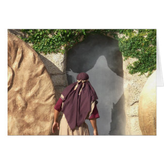 Reurrected Jesus Christ from the Tomb Easter Card