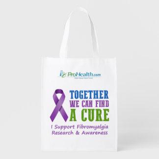 Reusable Bag - Fibromyalgia Awareness Market Tote