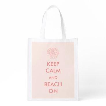Beach Themed Reusable Bag - Keep Calm Beach