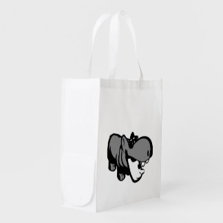 Reusable Bag - Summertime Hippo Grocery Bag
