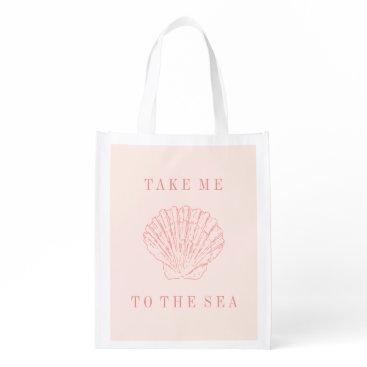 Beach Themed Reusable Bag - Take me to the Sea