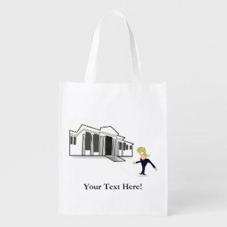 Reusable Bag -TRUMP'S WHITE HOUSE VIRGIN VISIT Market Tote