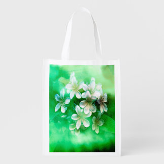 Reusable Bag - Watercolor Pulmaria Bouquet5 Grocery Bags