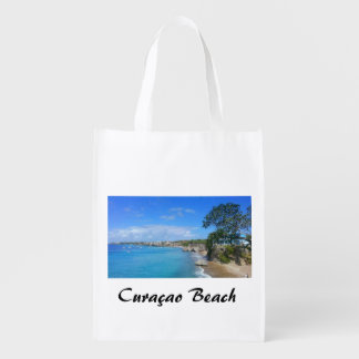 Reusable Bag with Curaçao Beach Reusable Grocery Bags