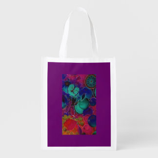 Reusable Bag with Fruits Reusable Grocery Bags