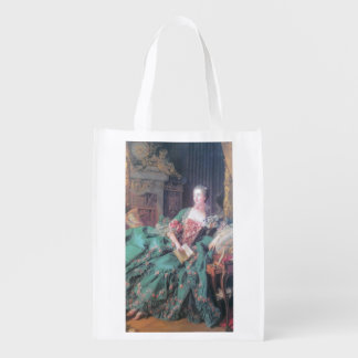 Reusable Bag with Nostalgia Picture Grocery Bags