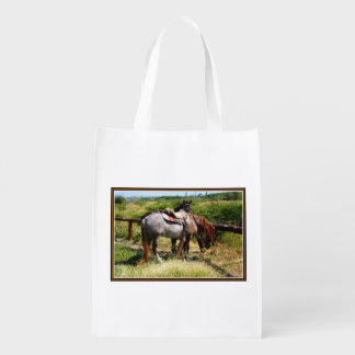 Reusable Bag with Resting Horses Reusable Grocery Bag