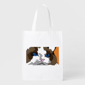 Reusable Cat Grocery Bag