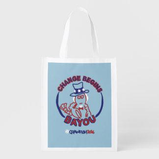 Reusable #ChangeBeginsBayou Grocery Bag
