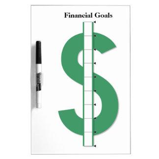 Reusable Financial Goals Dry Erase Board