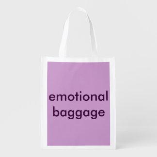 Reusable folding bag - Emotional Baggage Reusable Grocery Bags