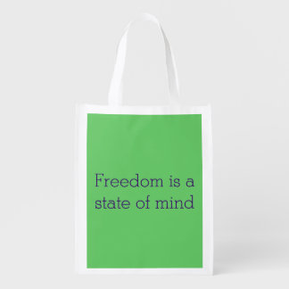 Reusable folding bag - freedom is a state of mind