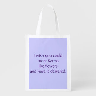 Reusable folding bag - Karma like flowers Market Tote