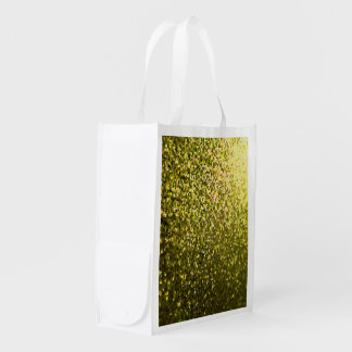 Reusable Grocery Bag Gold Mosaic Sparkley Texture