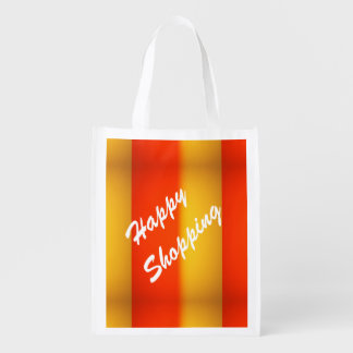 Reusable Grocery Bag Happy Shopping Market Tote