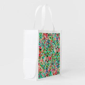 Reusable Grocery Bag Informel Art Abstract