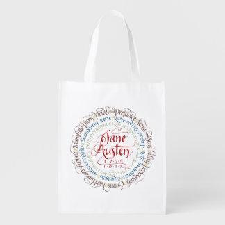 Reusable Grocery Bag - Jane Austen Period Dramas