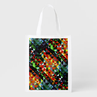 Reusable Grocery Bag with mosaic design