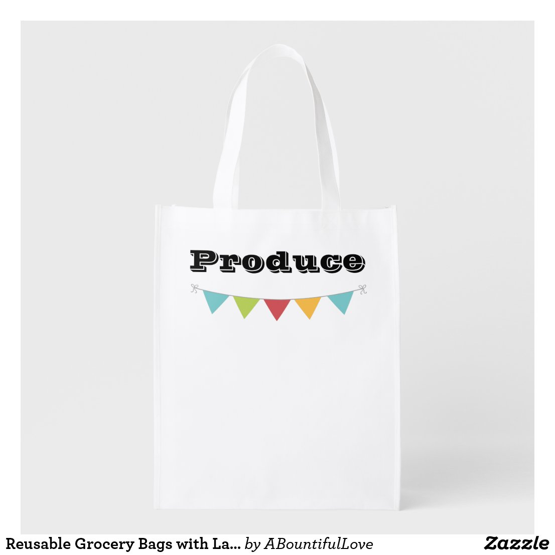 Reusable Grocery Bags with Label