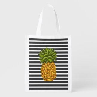 Reusable Pineapple Grocery Tote Bag Grocery Bag