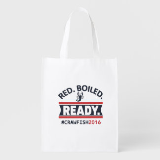 """Reusable """"Red. Boiled. Ready."""" Grocery Bag"""