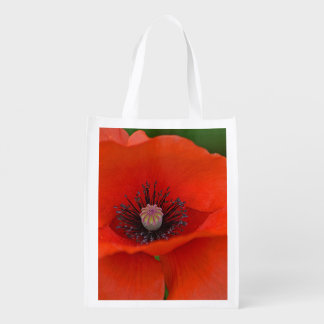 Reusable Red Poppy Bag Market Totes