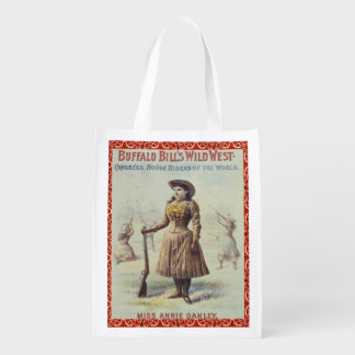 Reusable Shopping Bag Annie Oakley Western Cowgirl