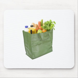Reusable shopping bag full of groceries mouse pad