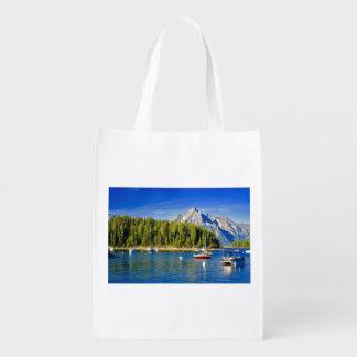 Reusable Shopping Bag Grand Tetons Reusable Grocery Bag