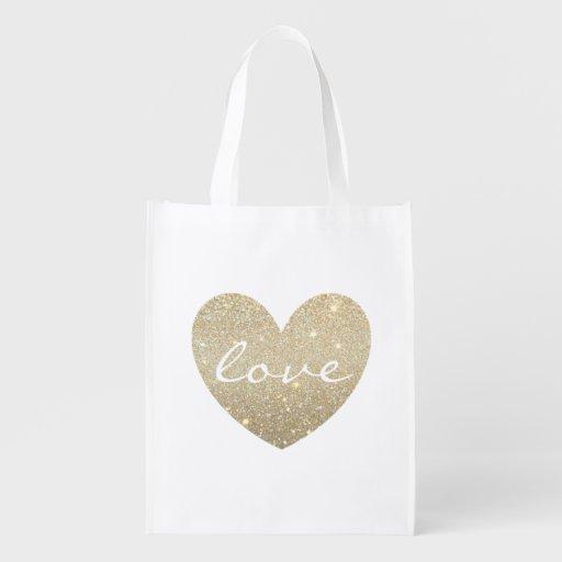 Reusable Tote - Glitter Love Market Totes