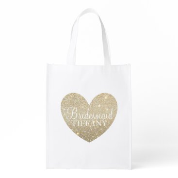 Valentines Themed Reusable Tote - Heart Fab bridesmaid Market Tote