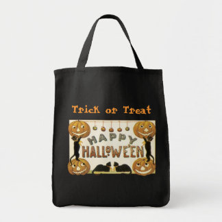 Reusable Trick or Treat bags! Halloween Grocery Tote Bag
