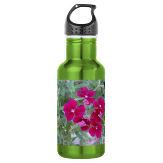 Reusable water bottle, floral photo stainless steel water bottle