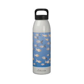 Reusable Water Bottle with Fish Pattern