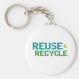 Reuse and Recycle Keychain
