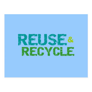 Reuse and Recycle Tshirts and Gifts Postcard