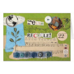 """""""reuse, recycle!"""" notecard greeting cards"""