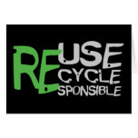 Reuse Recycle Responsible Cards
