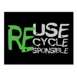 Reuse Recycle Responsible Postcards