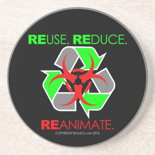 REUSE. REDUCE. REANIMATE. BEVERAGE COASTER