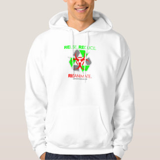 REUSE. REDUCE. REANIMATE. HOODED PULLOVER