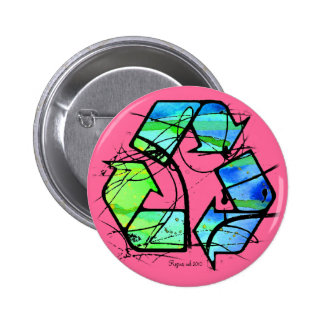 Reuse, Reduce, Recycle Earth Day Gifts 2 Inch Round Button