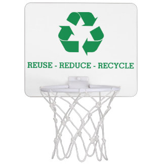 Reuse Reduce Recycle Mini Basketball Backboard
