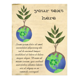 Reuse Reduce Recycle Tree Earth Globe Flyer